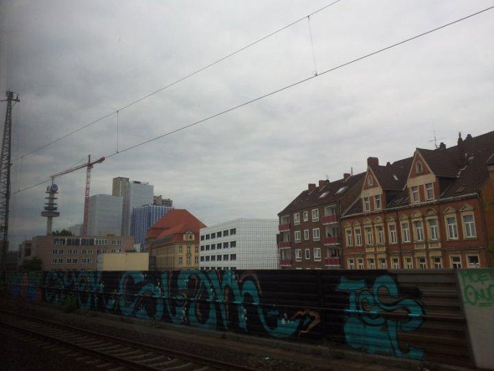 Aus dem Zug Braunschweig (c) Foto von Susanne Haun