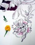 Entstehung Feurige Blumen auf dem Kreuz (c) Zeichnung von Susanne Haun