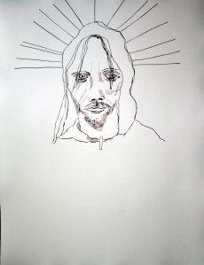 Entstehung - Der neue Tag beginnt – 65 x 50 cm (c) Zeichnung von Susanne Haun