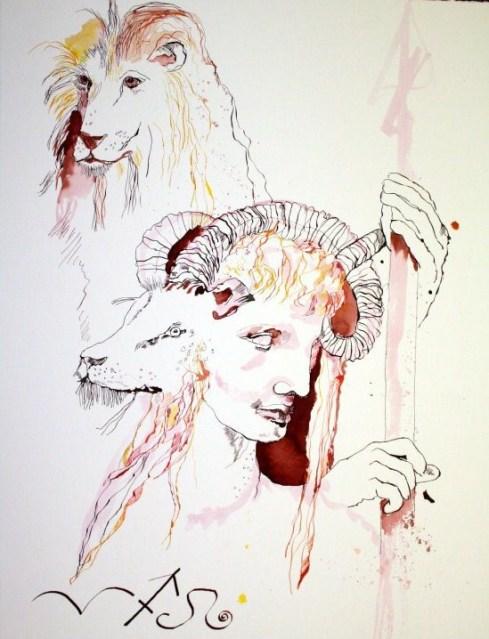 Feuerzeichen 80 x 60 cm (c) Zeichnung von Susanne Haun