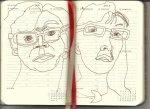Selbstportrait Tagebuch 28. Woche (c) Zeichnung von Susanne Haun
