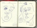 Selbstportrait Tagebuch 30. Woche (c) Zeichnung von Susanne Haun