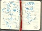 Selbstportrait Tagebuch 31. Woche (c) Zeichnung von Susanne Haun