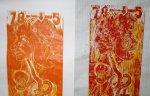 Ausschnitt aus dem Druck von zwei Plattenzuständen (c) Holzschnitt von Susanne Haun