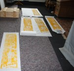 Fünf Blätter habe ich mit dem ersten Zustand gedruckt (c) Foto von Susanne Haun