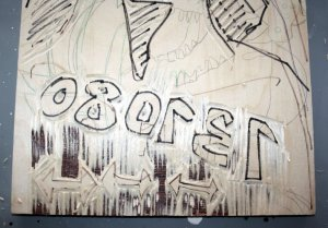 Das Datum (c) Holzschnitt von Susanne Haun
