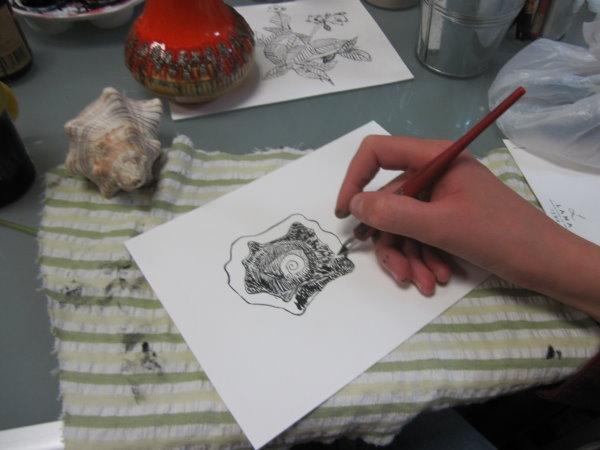 Auch die Muschel findet ihren Zeichner