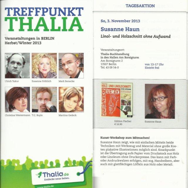 Prospekt für Tagesaktion Susanne Haun bei Thalia