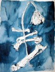 Blumen und Knochen - Version 1 (c) Zeichnung von Susanne Haun