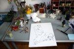 Entstehung Plastiktüte und Knochen Version 1 (c) Zeichnung von Susanne Haun