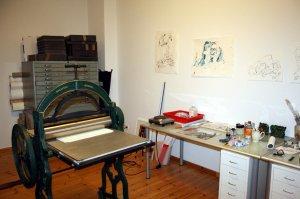 Ich etabliere mich in meinem neuen Atelier (c) Foto von Susanne Haun