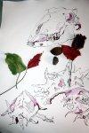 Entstehung - Der Erde preis gegeben - 65 x 50 cm - Tusche auf Bütten (c) Zeichnung von Susanne Haun