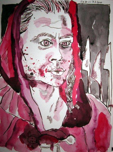 Das Wort verwundet leichter als es heilt (c) Zeichnung von Susanne Haun
