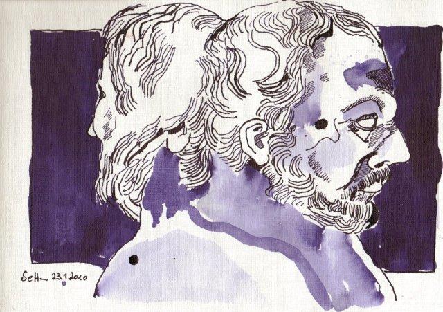 Kann sein, kann aber auch nicht sein (c) Zeichnung von Susanne Haun
