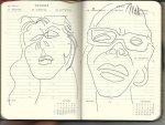Selbstportrait Tagebuch 43. Woche (c) Zeichnung von Susanne