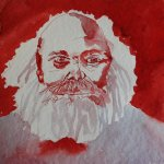 Mein Sinnbild von Karl Marx (c) Zeichnung von Susanne Haun