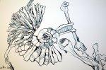 Ausschnitt Mythos Kunst und Vergänglichkeit (c) Zeichnung von Susanne Haun