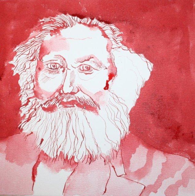 Mein Sinnbild von Karl Marx - Version 2 (c) Zeichnung von Susanne Haun