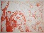 Erster Zustandsdruck Das Tor zur Hölle (c) Radierung von Susanne Haun