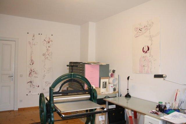 Einblick in mein Atelier (c) Foto von Susanne Haun