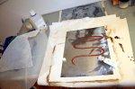 Ich benutze heute wasserlösliche Tuben-Radierfarbe (c) Foto von Susanne Haun
