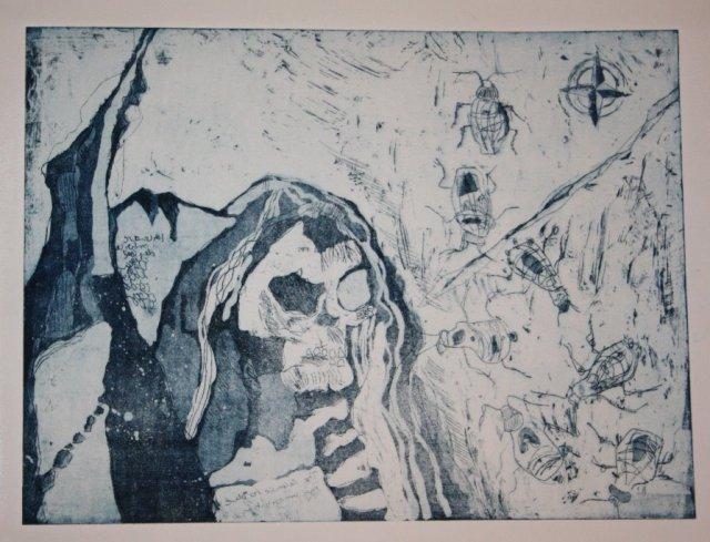 Zweiter Zustandsdruck (c) Radierung von Susanne Haun
