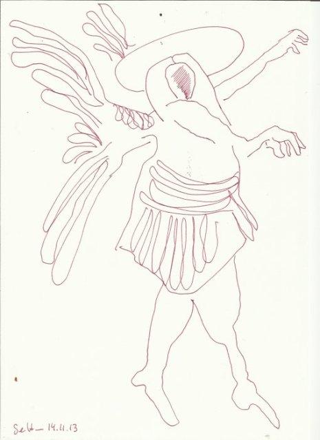 Engelballett (c) Zeichnung von Susanne Haun