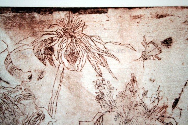 Ausschnitt - Hic locus est ubi mors docet vivos - 30 x 40 cm (c) Radierung von Susanne Haun