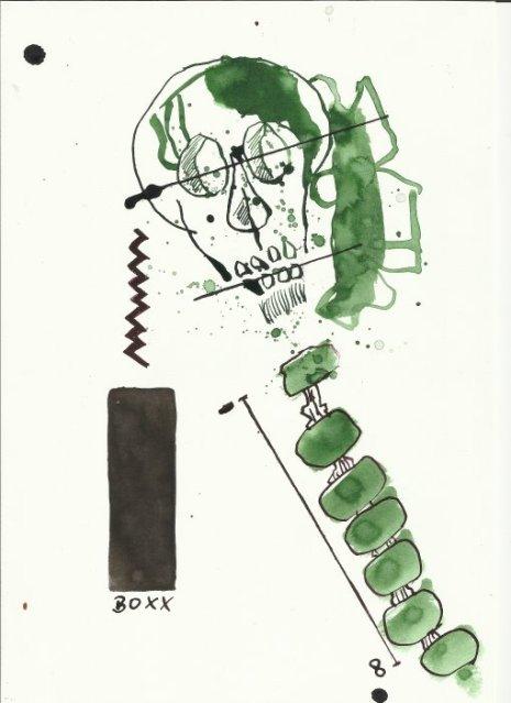 Berliner Blätter 12 (c) Zeichnung von H.-J. Küster und S.Haun