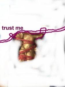 trust me (c) Überzeichnung von Susanne Haun