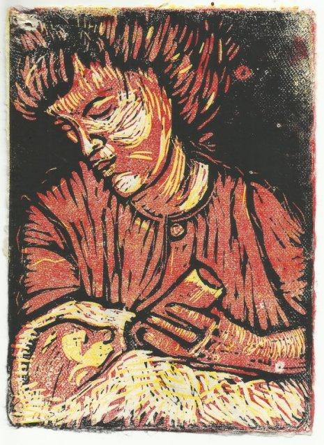 Mutter und Kind - 20 x 15 cm (c) Linolschnitt von Susanne Haun