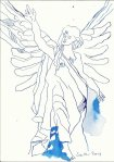 Ade ihr Engel (c) Zeichnung von Susanne Haun