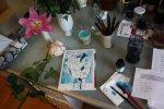 Die Rosen auf meinem Arbeitstisch (c) Foto von Susanne Haun