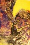Mutter und Kind - 30 x 15 cm (c) Linolschnitt von Susanne Haun