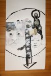 Detail Collagenzeichnung 100 x 40 cm (c) Foto von Susanne Haun