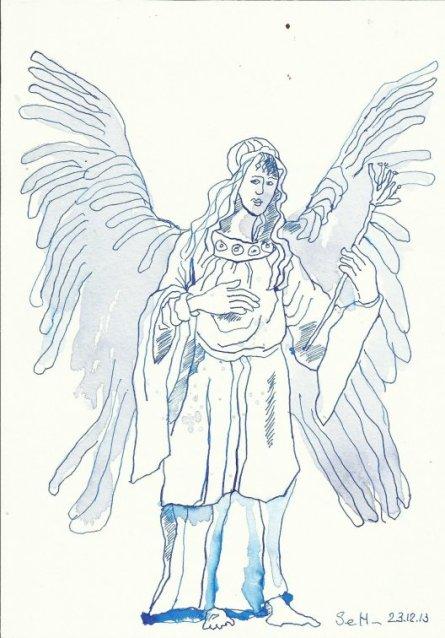 Engel Langeweile (c) Zeichnung von Susanne Haun