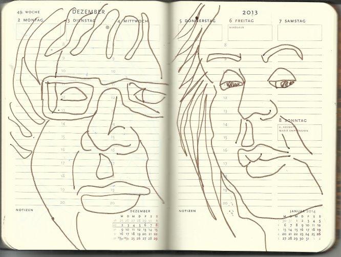 Selbstportrait Tagebuch 49. Woche (c) Zeichnung von Susanne
