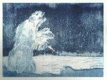 Der Eisbärenliebhaber - Vers. 2 ausgeschliffen - Eine Geschichte ergab eine andere (c) Radierung von Susanne Haun