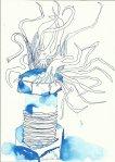 Geschraubt - 24 x 17 cm (c) Zeichnung von Susanne Haun