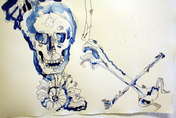 Ausschnitt Gang des Schmetterlings - 65 x 50 cm (c) Zeichnung von Susanne Haun