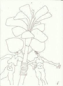 Ich zeichne, was ich nicht sehe (c) Zeichnung von Susanne Haun