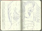 Selbstportrait Tagebuch März 2013 (c) Zeichnung von Susanne Haun