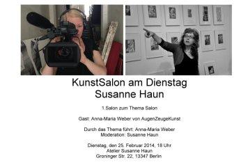 1. Kunst Salon Susanne Haun - Einladung