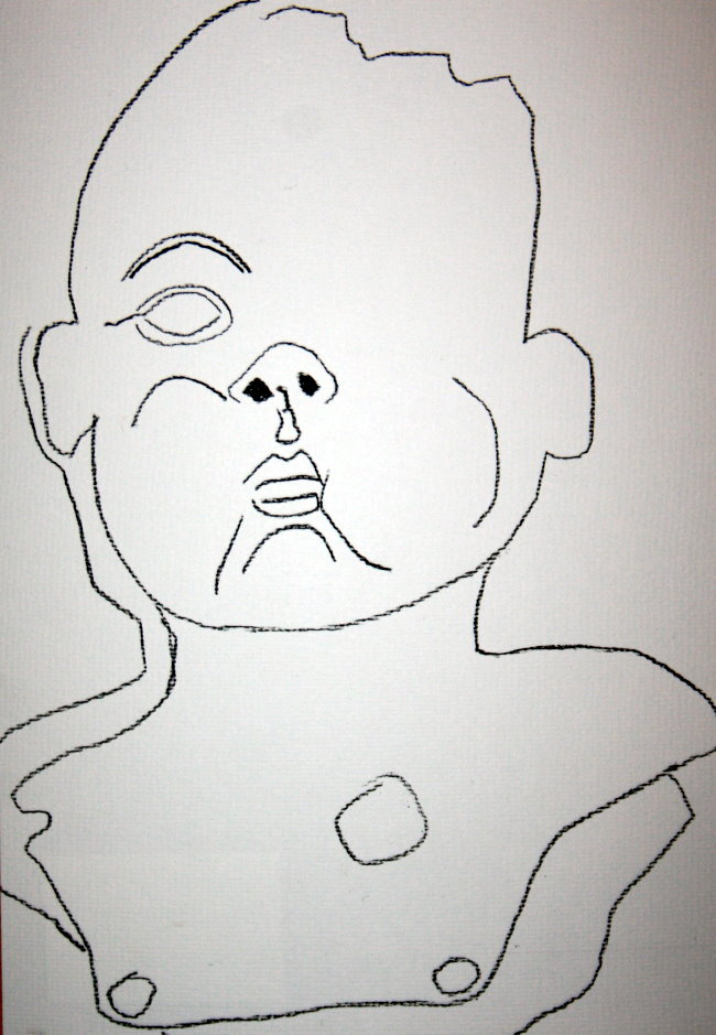 Schnelle Zeichnung mit Kohle (c) Susanne Haun