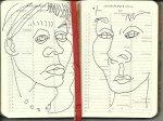 Selbstportrait Tagebuch Jahresplaner 2014 Jan. - Juni. (c) Zeichnung von Susanne Haun