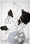 Schwarze Blumen (c) Zeichnung von Susanne Haun