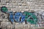 Schrift auf der Bastionsmauer im Schillerpark (c) Foto von Susanne Haun