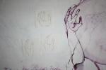 Die Hände sollen neu entstehen (c) Zeichnung auf Leinwand von Susanne Haun