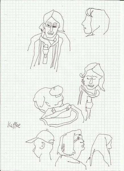 Während der Vorlesung (c) Zeichnung von Susanne Haun