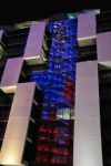 Der Torre Agbar gespiegelt im Hotel geradeüber (c) Foto von M.Fanke